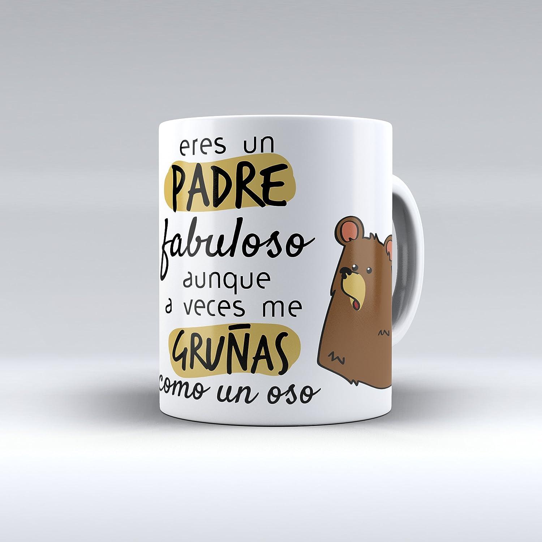 Taza cerámica desayuno regalo original cumpleaños padre
