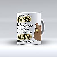 """Taza cerámica desayuno regalo original cumpleaños padre """"Eres"""