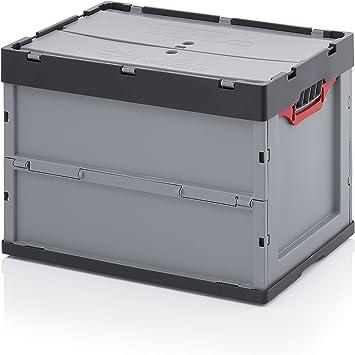Caja plegable Auer 60 x 40 x 42 con tapa y bolsa interior rafia cremallera: Amazon.es: Bricolaje y herramientas