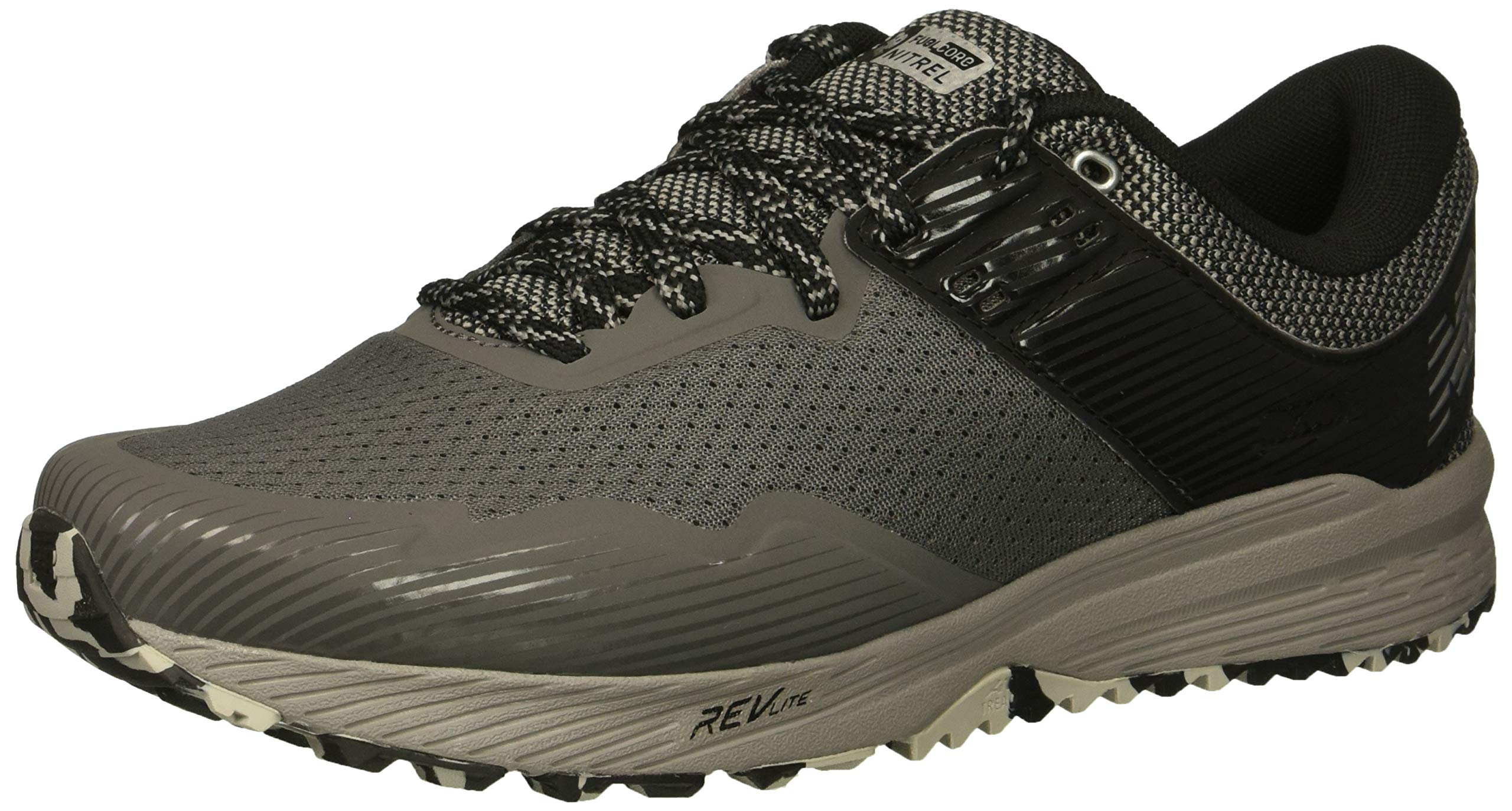 New Balance Men's Nitrel V2 FuelCore Trail Running Shoe, Castlerock/Black/Silver, 7 D US