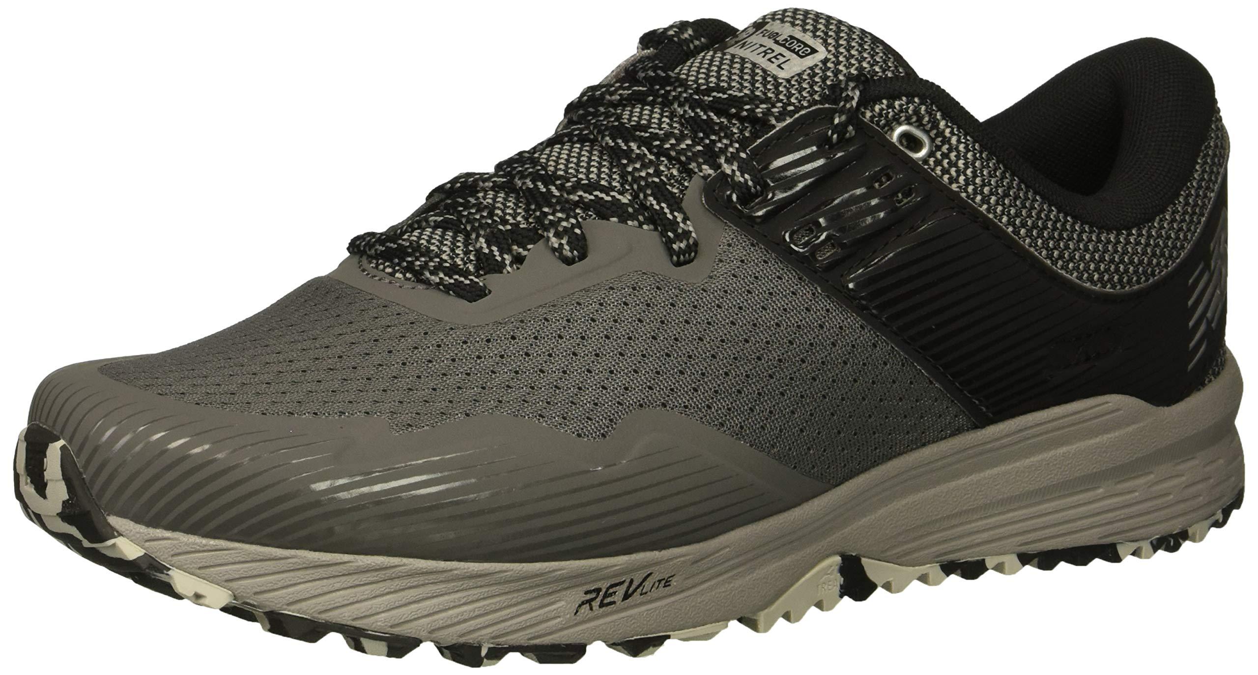 New Balance Men's Nitrel V2 FuelCore Trail Running Shoe, Castlerock/Black/Silver, 7.5 D US