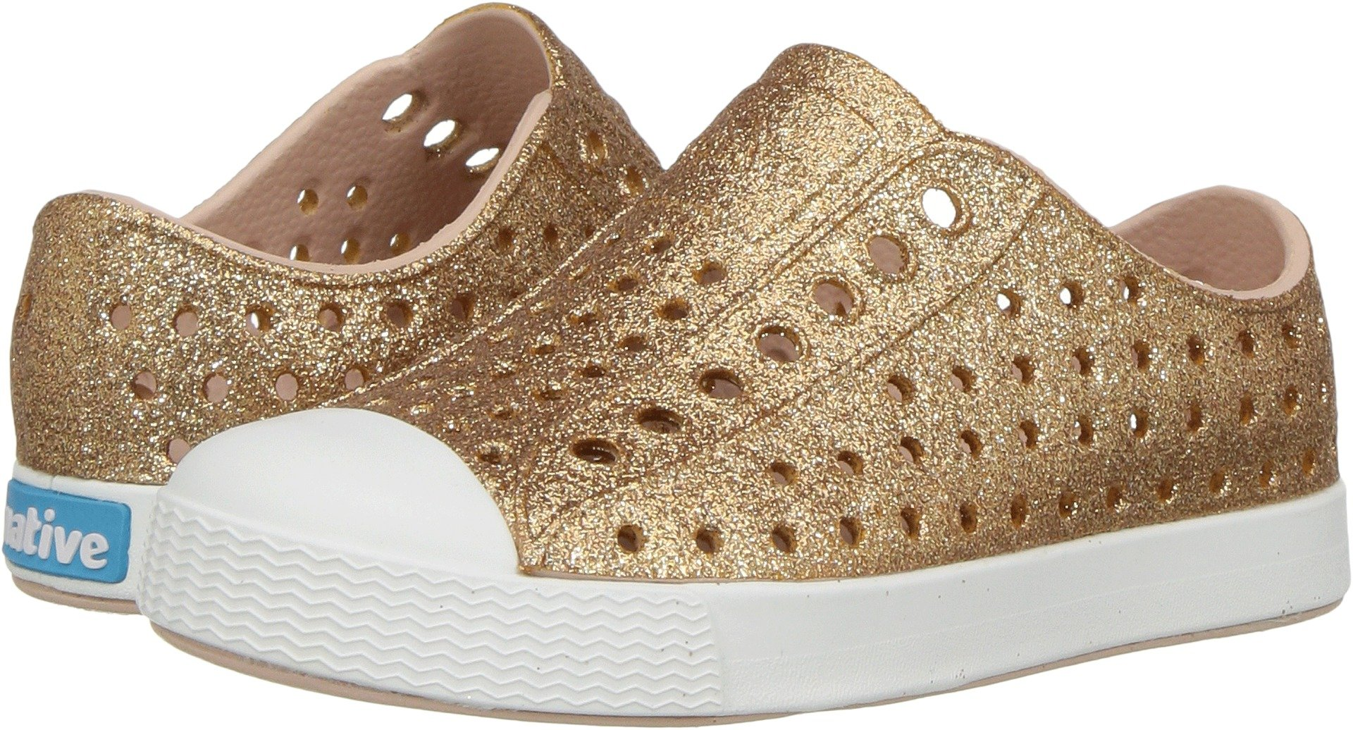Native Kids Shoes Baby Girl's Jefferson Bling Glitter (Toddler/Little Kid) Rose Gold Bling 4 M US Toddler
