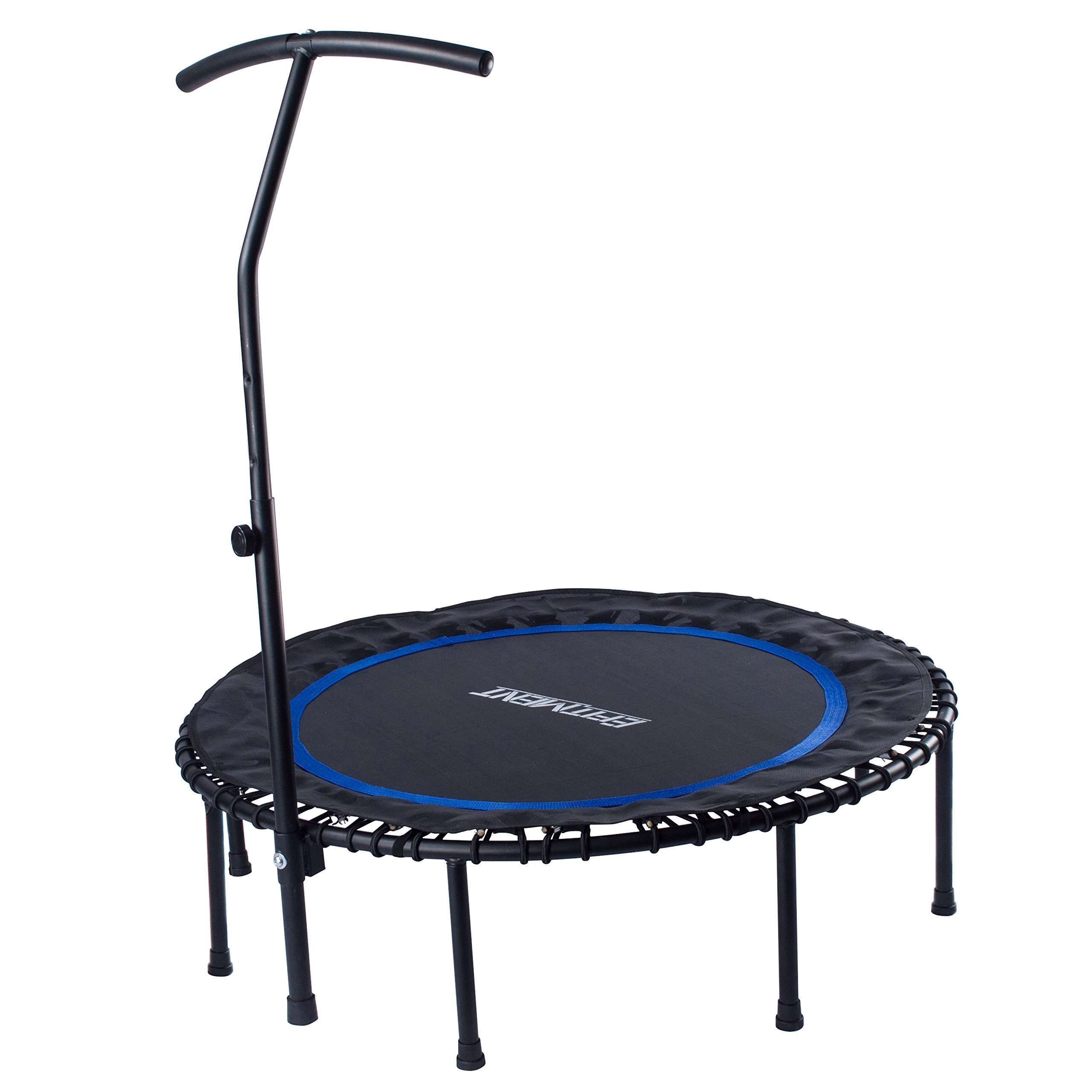 EFITMENT 45-in Fitness Trampoline Rebounder for Exercise with Handlebar and Long Lasting Premium Bungees - A024