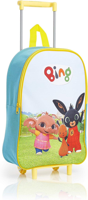 Bing Maletas de Viaje Infantiles Con 2 Ruedas, Personajes Dibujos Animados Bing Bunny Sula Flop, Maleta Trolley Infantil Equipaje de Mano Para Cabina, Regalos Para Niños Niñas 3 + Años
