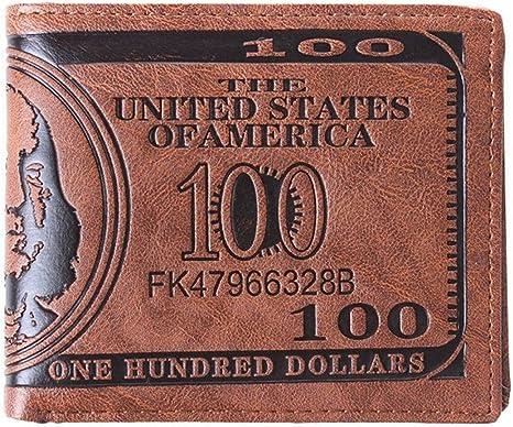 Stylish Men US Dollar Bill Leather Wallet Bifold Credit Card Photo Holder New Y
