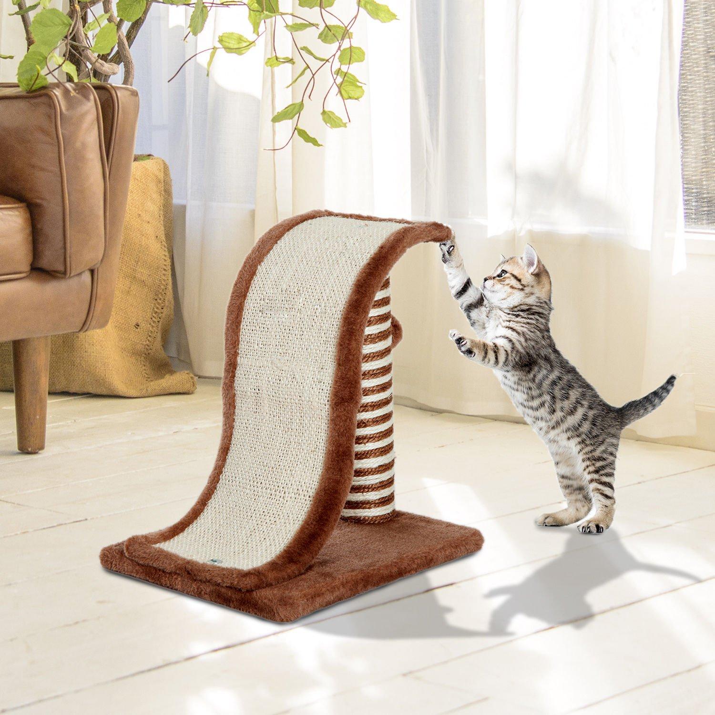PawHut Árbol Rascador para Gatos Tipo Centro de Juegos con Poste ...