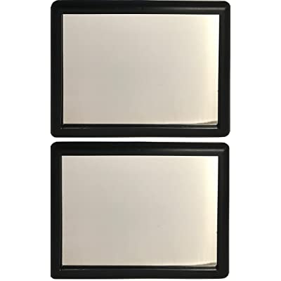 Black Visor Vanity Mirror Pack of 2: Automotive