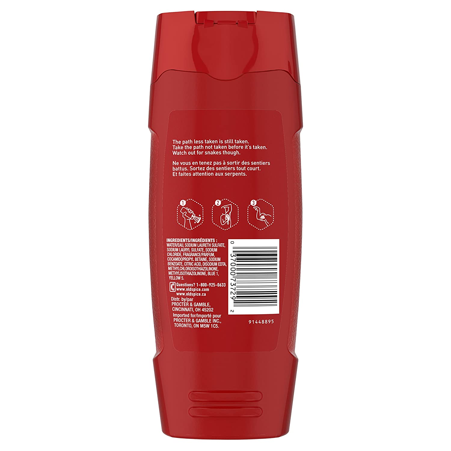 Amazon.com : Old Spice Mens Body Wash, Nomad Scent, Red Collection, 16.0 Fluid Ounce (Pack of 6) : Beauty