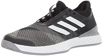 reputable site a196e 4547a adidas Mens Adizero Ubersonic 3, BlackWhiteLight Granite 6.5 ...