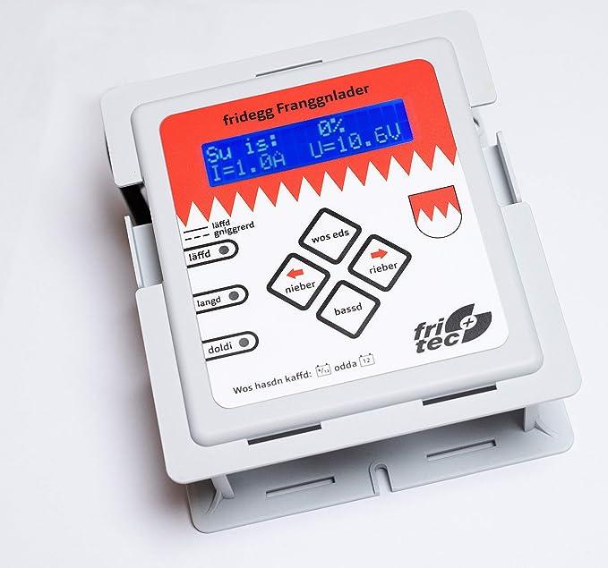 Fritec Bv11943 Frankenlader Intelligentes Batterieladegerät Mit Dialekt Für Alle Gängigen 12 Volt Batterien Wie Lithium Lifepo4 Blei Gel Agm Und Rein Blei Zinn Akkus Auto