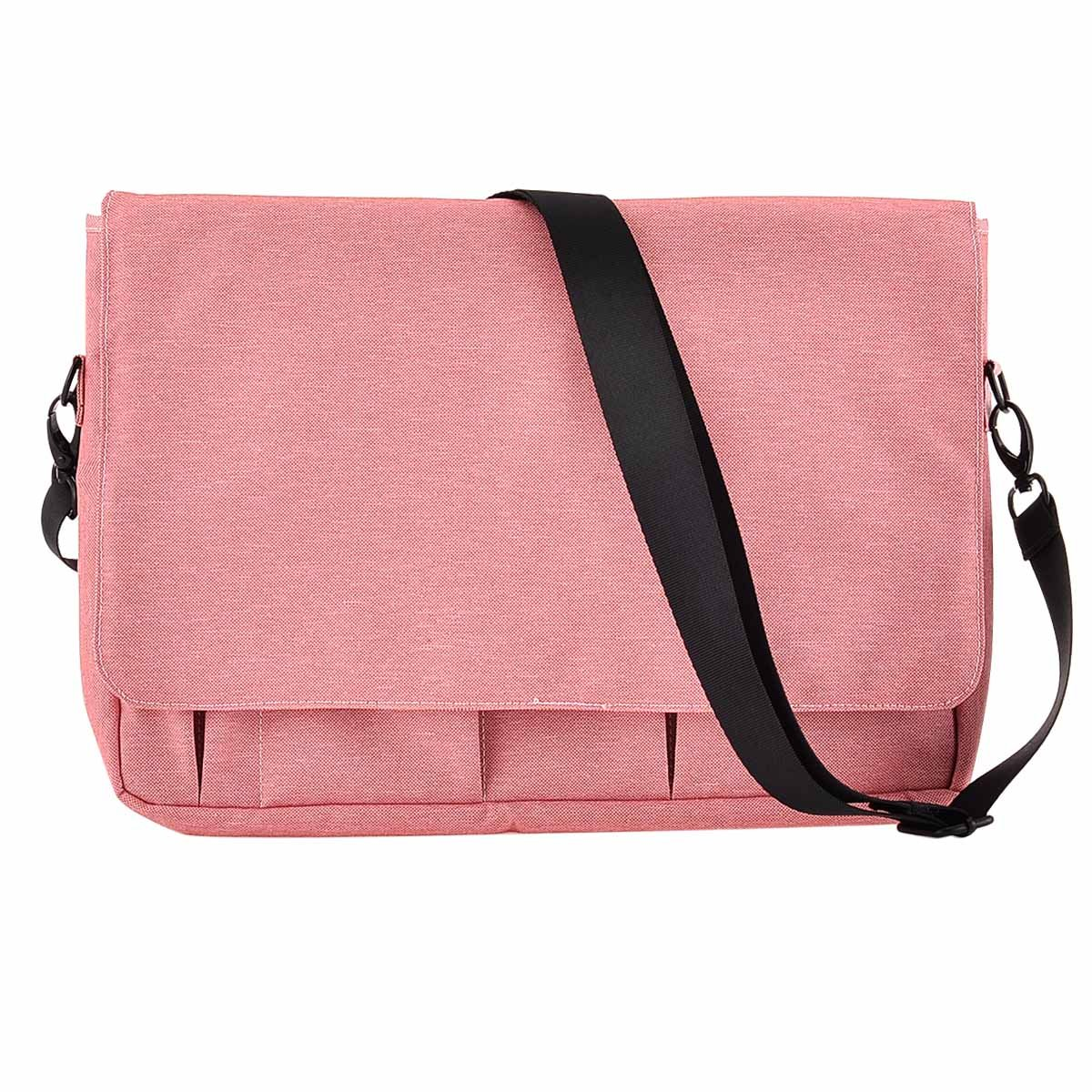 XeYOU Polyester Fabric Water-Resistant Laptop Shoulder Briefcase Bag for 13-13.3 Inch MacBook Pro, MacBook Air, Ultrabook Netbook Tablet (Pink)