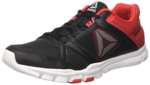 Reebok BS9871, Scarpe da Fitness Uomo, Nero (Black/Primal Red/White), 43 EU