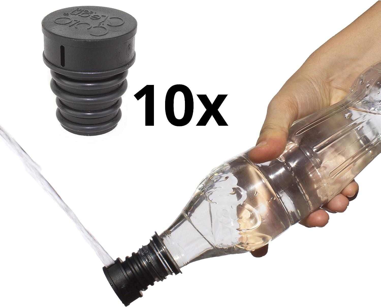 10x CuloClean - Bidé De Mano. El bidet portátil más Discreto. Compatible con cualquier botella de plástico. De viaje, wc con agua caliente, ducha sanitaria, inodoro, acoplable, tapón