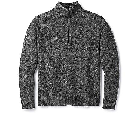 ade906300fa068 SmartWool Men's Ripple Ridge Half Zip Sweater Light Gray Heather-Charcoal  Heather M