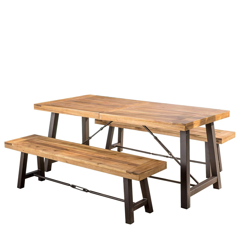 Amazon Com Great Deal Furniture Rosario 3 Piece Wood Outdoor