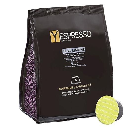 30 opinioni per Yespresso Capsule Te al Limone Compatibili per Nescafe Dolce Gusto- Confezione