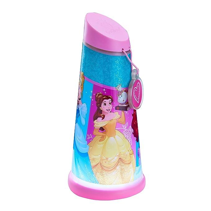 GoGlow Princesas Disney Luz de Noche y Linterna Giratoria, Rosa