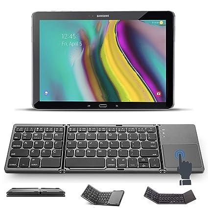 X-Tab Bluetooth Tastatur mit Touchpad für Lenovo TAB3 10 Plus TB3-X70F- Foldable Keyboard/Faltbare Mini Tastatur - FKT