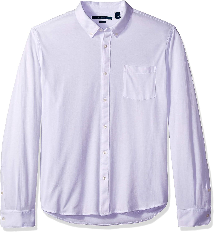 Perry Ellis Mens Slim Fit Oxford Knit Shirt