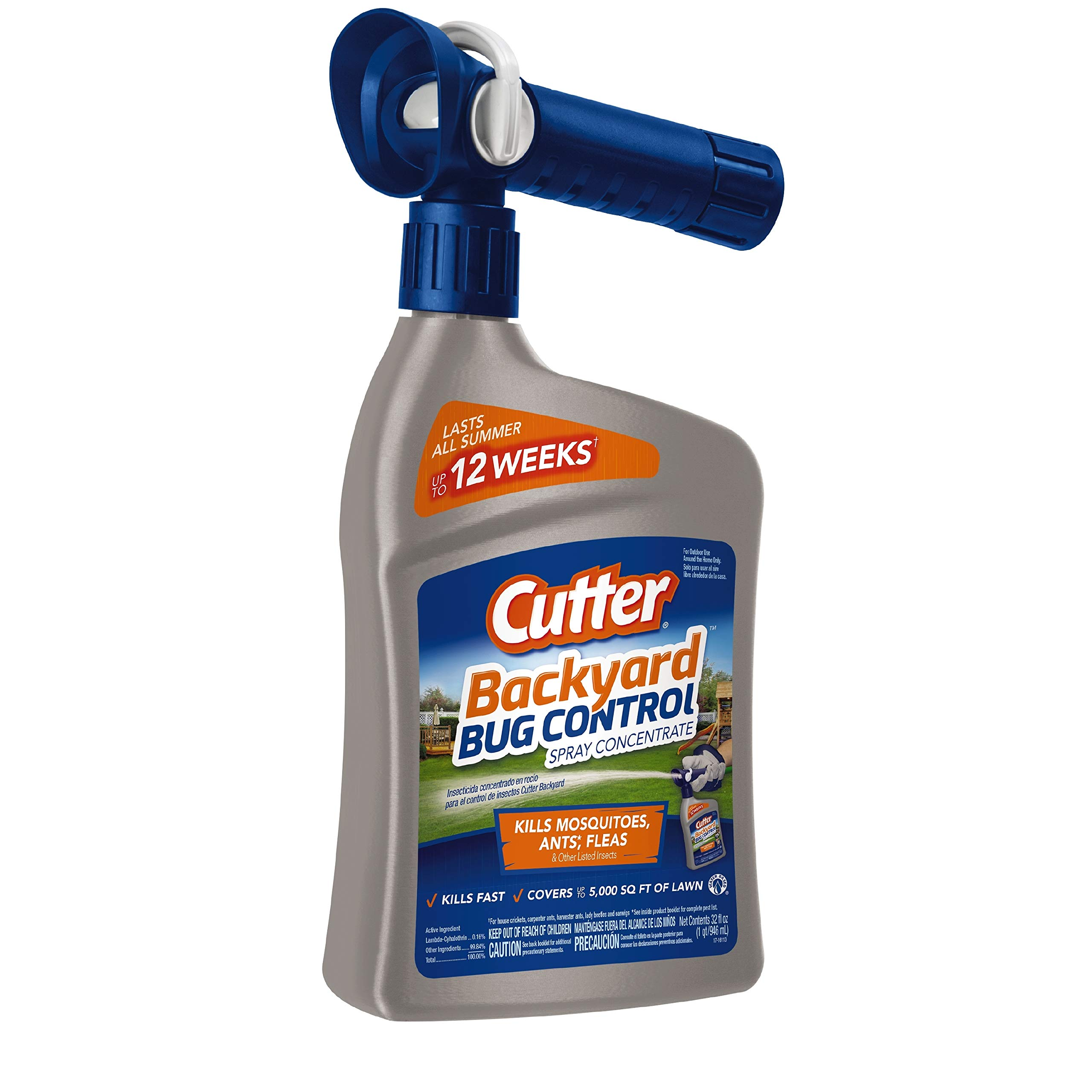 Cutter Backyard Bug Control Spray Concentrate, 32-Ounce, 6-Pack by Cutter