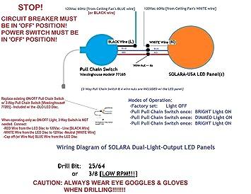 dual light output 7 diameter led panel for ceiling fan light dual light output 7 diameter led panel for ceiling fan light 4000lumens 17watts 120vac secondary dimmed 30% output p n sptl420lmf73 dlo 30%