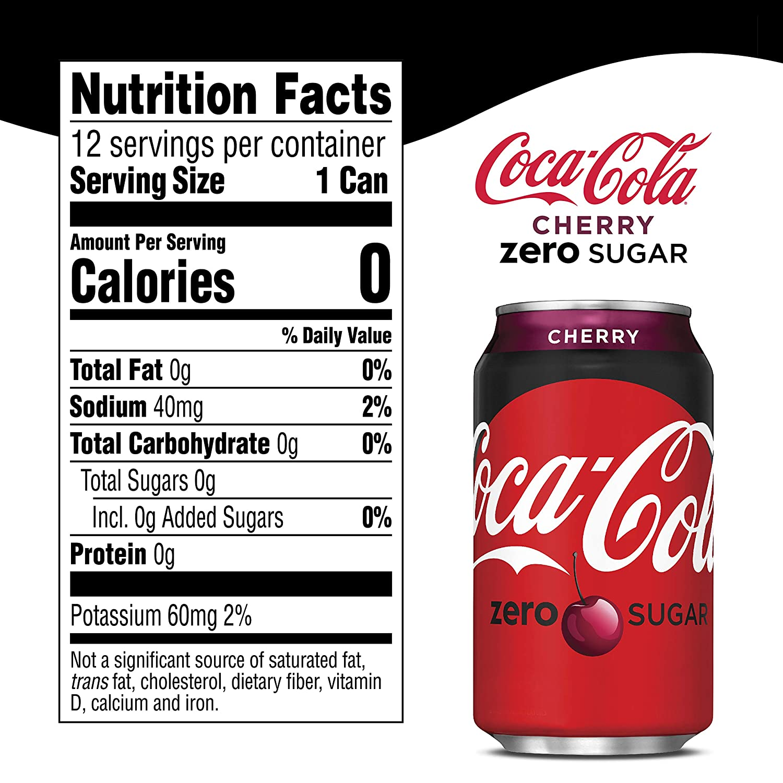 is cherry coke zero sugar free
