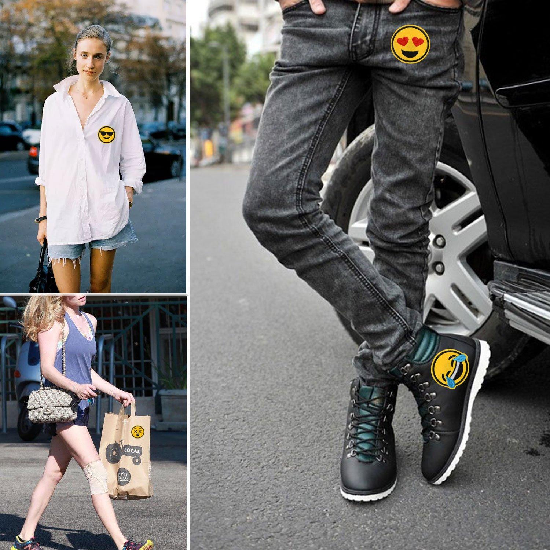 28 St/ück Niedlich Gestickter Fleck DIY Stylische Kleidung Iron On Patches B/ügelsticker f/ür T-Shirt Jeans Taschen Aufn/äher B/ügelbild