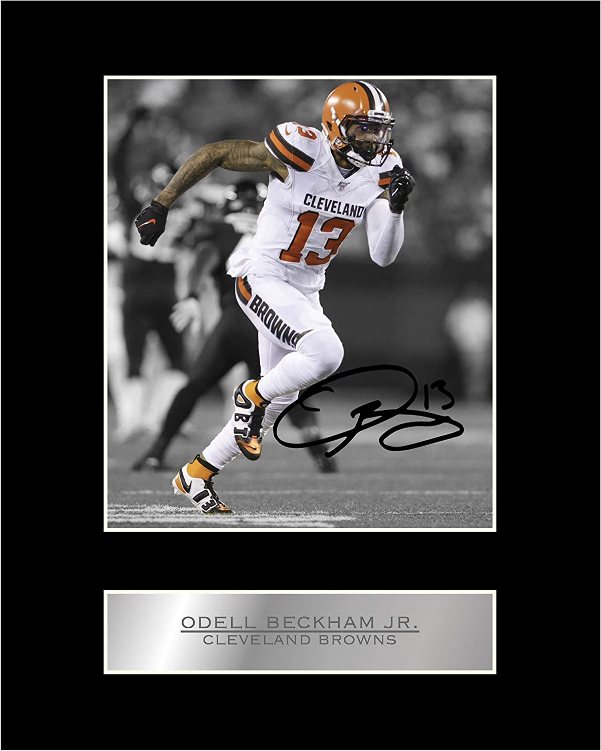 iconic pics Odell Beckham Jr Signed Mounted Photo Display New York Giants