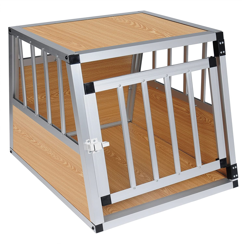 EUGAD Hundebox Transportbox Hundetransportbox Aluminium 1 Tü rig Reisebox Gitterbox Box Farbwahl EHT469