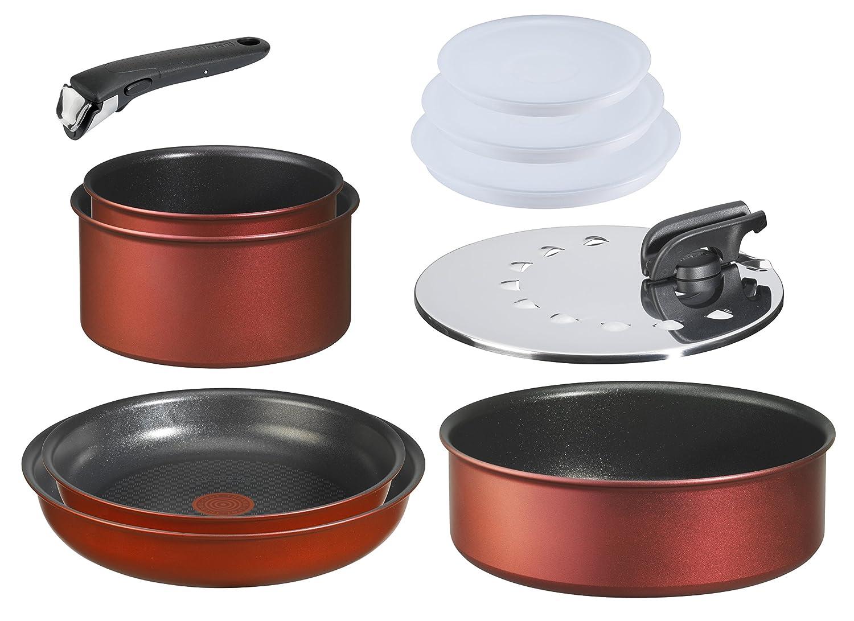 tefal l ingenio induction batterie de cuisine set de pices aluminium rouge surprise casseroles. Black Bedroom Furniture Sets. Home Design Ideas