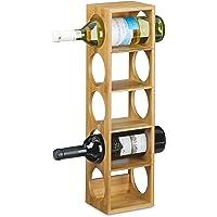 Relaxdays Botellero Vino, Soporte Botellas, Estante con 5