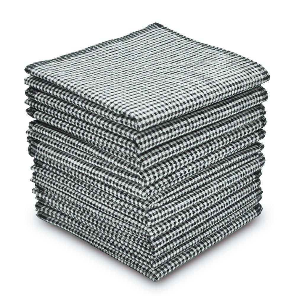 EcoHanky Men's Handkerchiefs 100% Cotton 12-piece Plaid Hankies 16'' Large