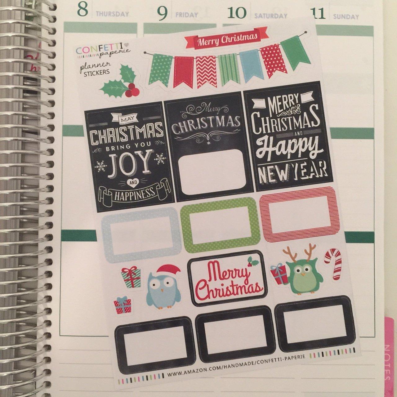 Amazon.com: CHALK Christmas Planner Stickers | Vintage ...