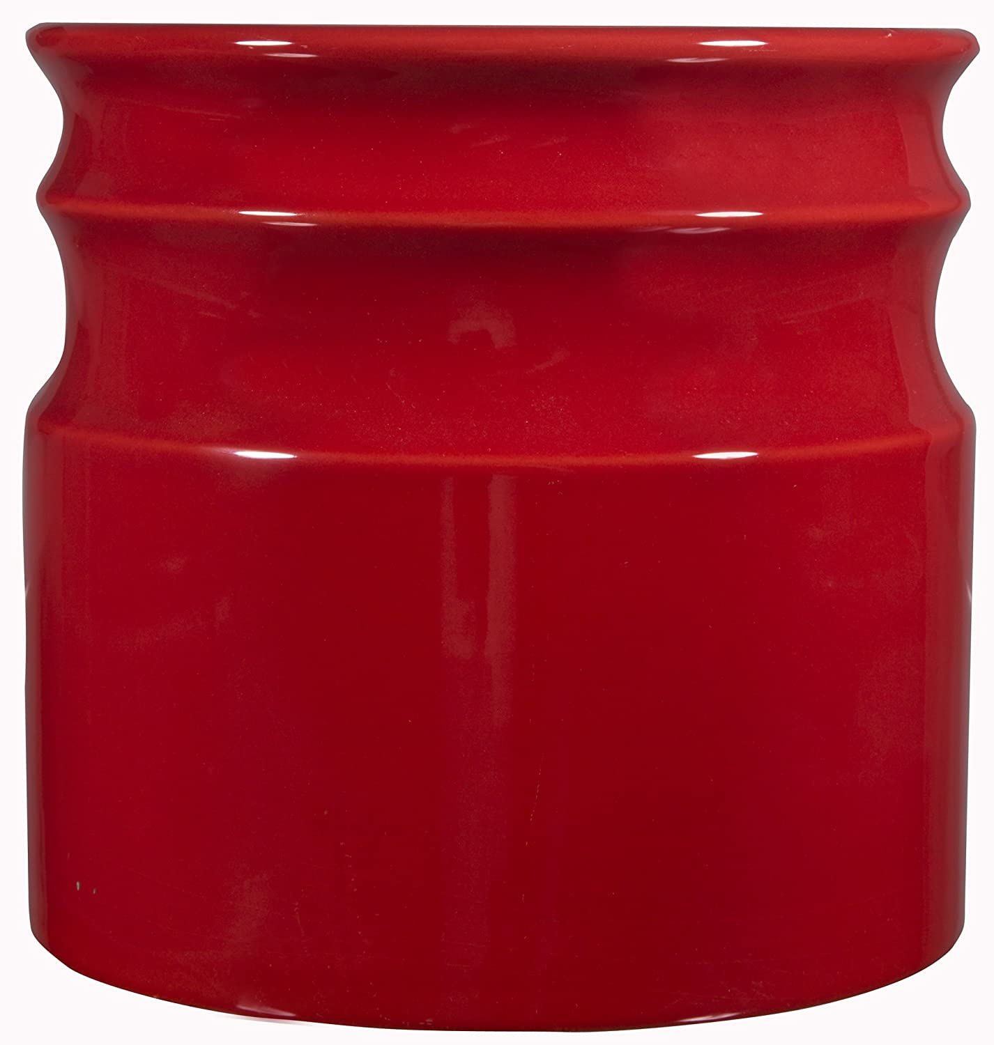 Home Essentials & Beyond 66379 7.5 D in. Turino Rings Utensil Crock - Red 66379-HE