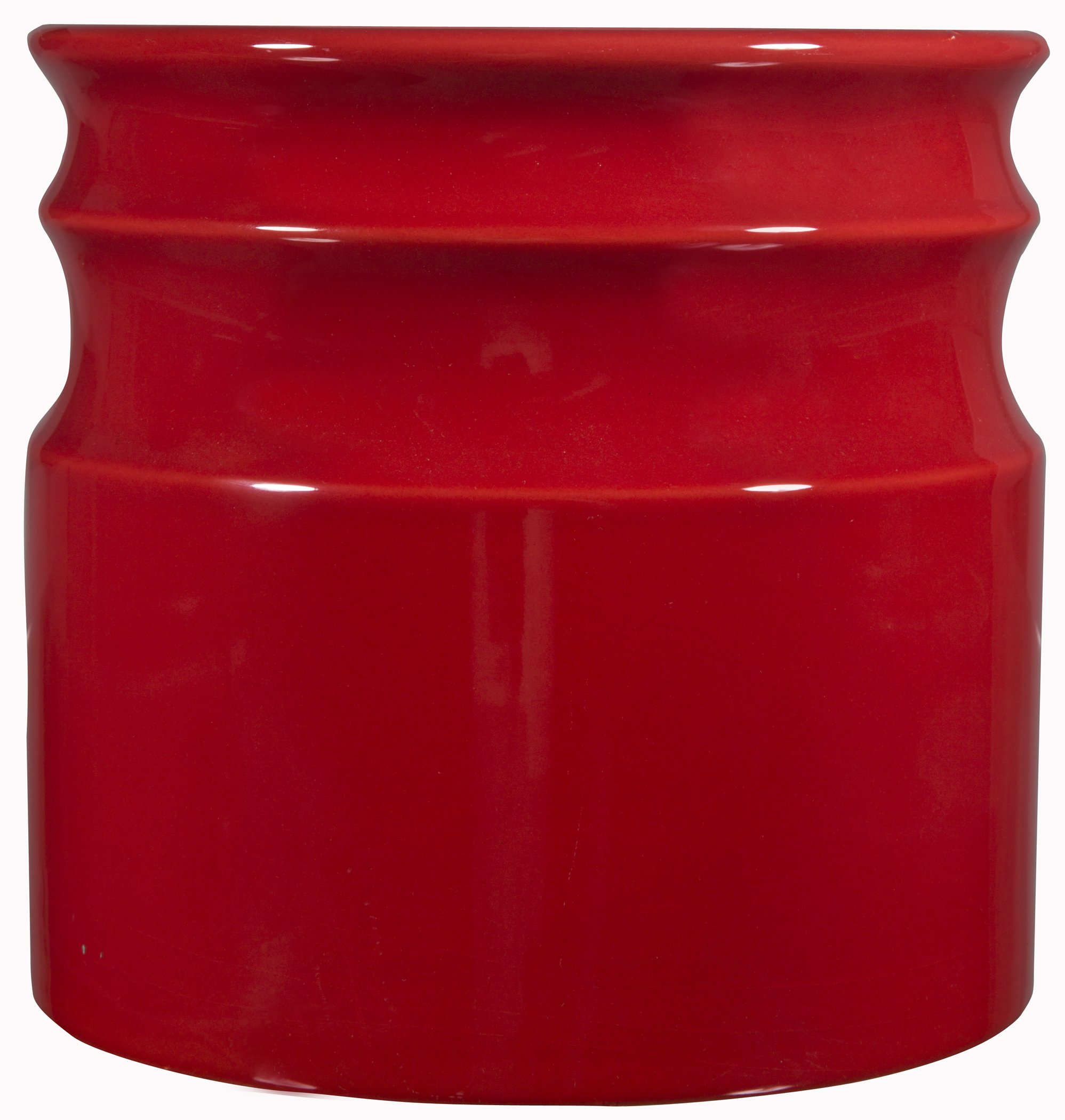 Home Essentials Beyond 66379 7.5 D in. Turino Rings Utensil Crock - Red
