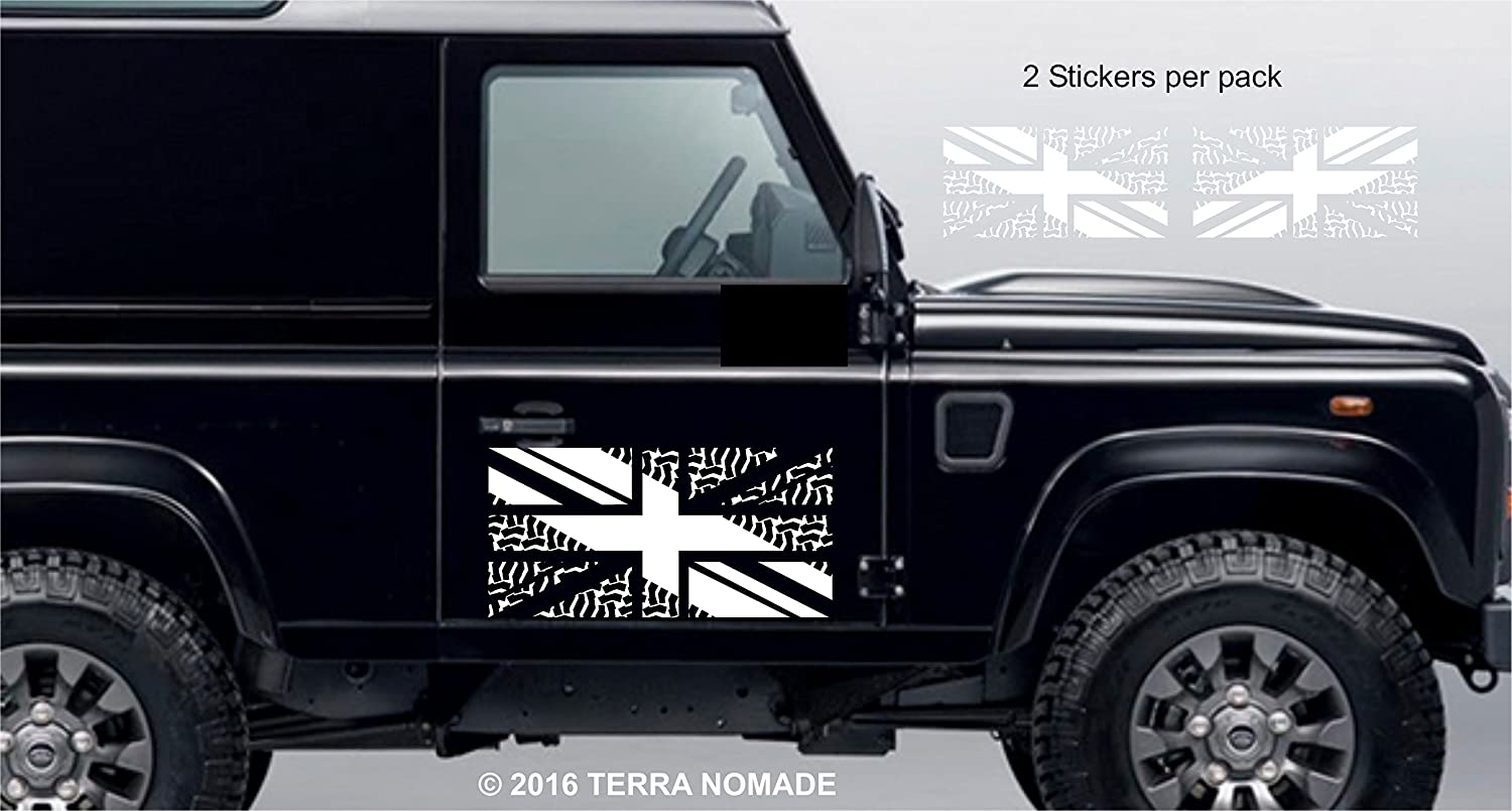 Union Jack BFG Land Rover Stickers x 2 Decal Vinyl Driving a legend