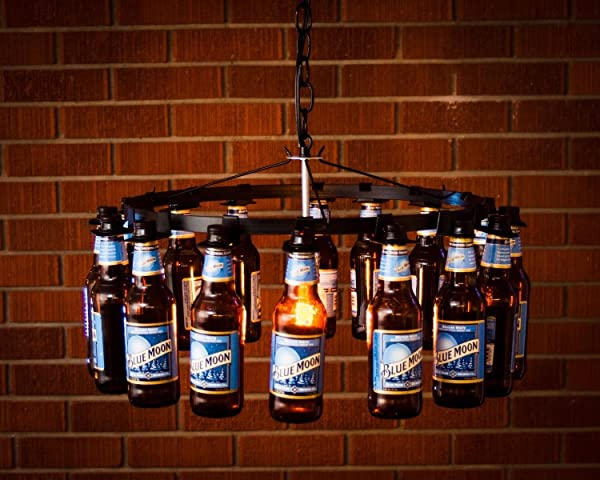 bottle chandelier Beer