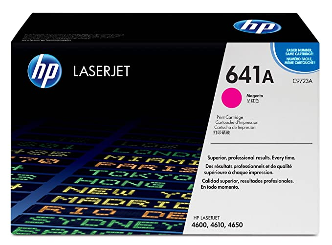 HP 641A Laserjet Toner Cartridge - Magenta Inks, Toners & Cartridges at amazon