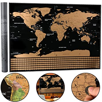 Scratch off world map xinyi interactive travel scratch map black scratch off world map xinyi interactive travel scratch map black and gold deluxe edition gumiabroncs Image collections