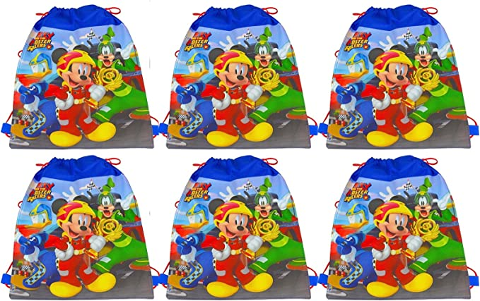 6-Pack] Disney Mickey Mouse and the Roadster Racers 14-inch Sling ...