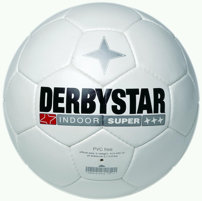 Derbystar Indoor Super - Balón de fútbol Sala, Color Blanco Blanco ...