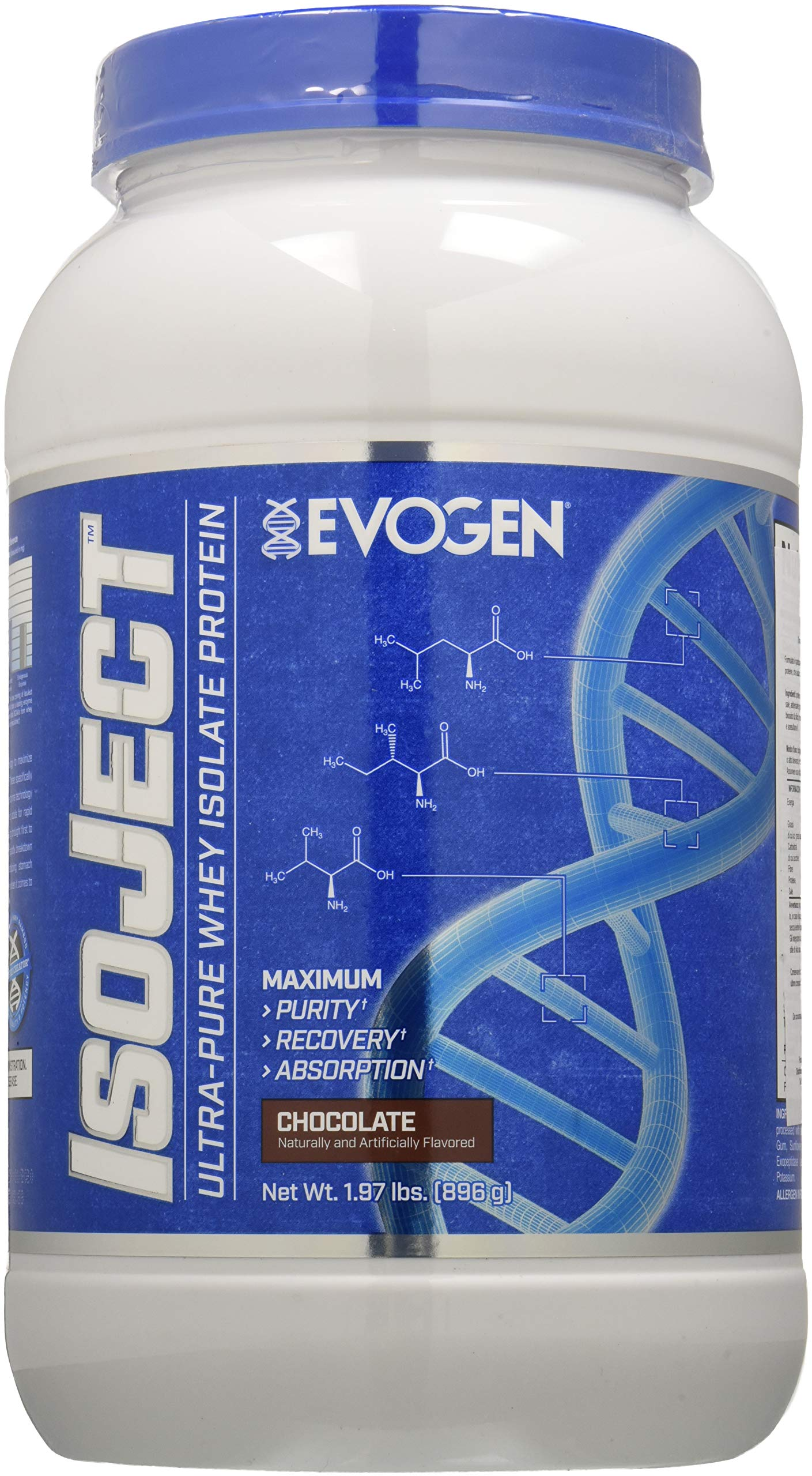 Evogen Isoject | Premium Whey Isolate w/ Ignitor Enzymes | Vanilla Bean | 28 Servings