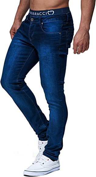 Leif Nelson LN301 Pantalones vaqueros para hombre, Skinny
