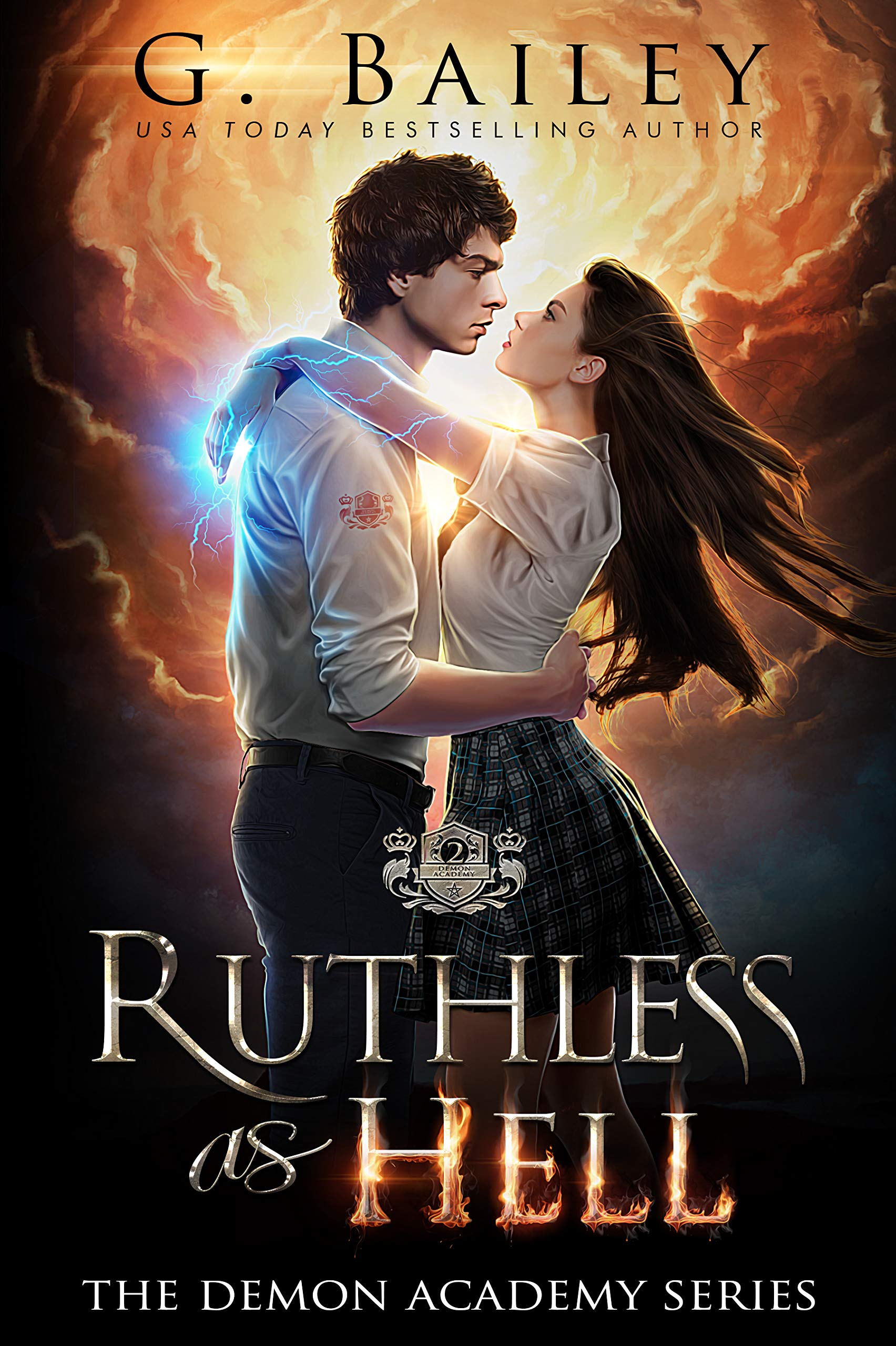 Ruthless As Hell  A Reverse Harem Bully Academy Romance  The Demon Academy Book 2   English Edition