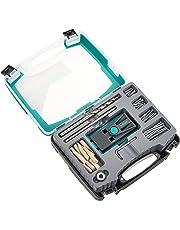 wolfcraft Undercover Jig-Set TX 4642100 – Zuverlässige Bohrhilfe mit Schrauben & Dübeln – Für Holzverbindungen & das Bohren von Taschenlöchern
