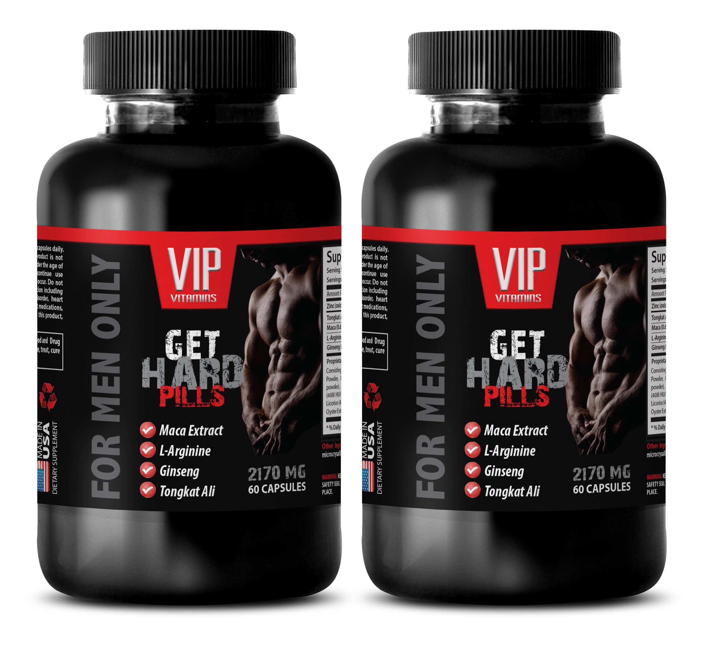 Sexual Male Performance Enhancement Pill - GET Hard Pills - for Men ONLY - L-arginine high Blood Pressure - 2 Bottles 120 Capsules