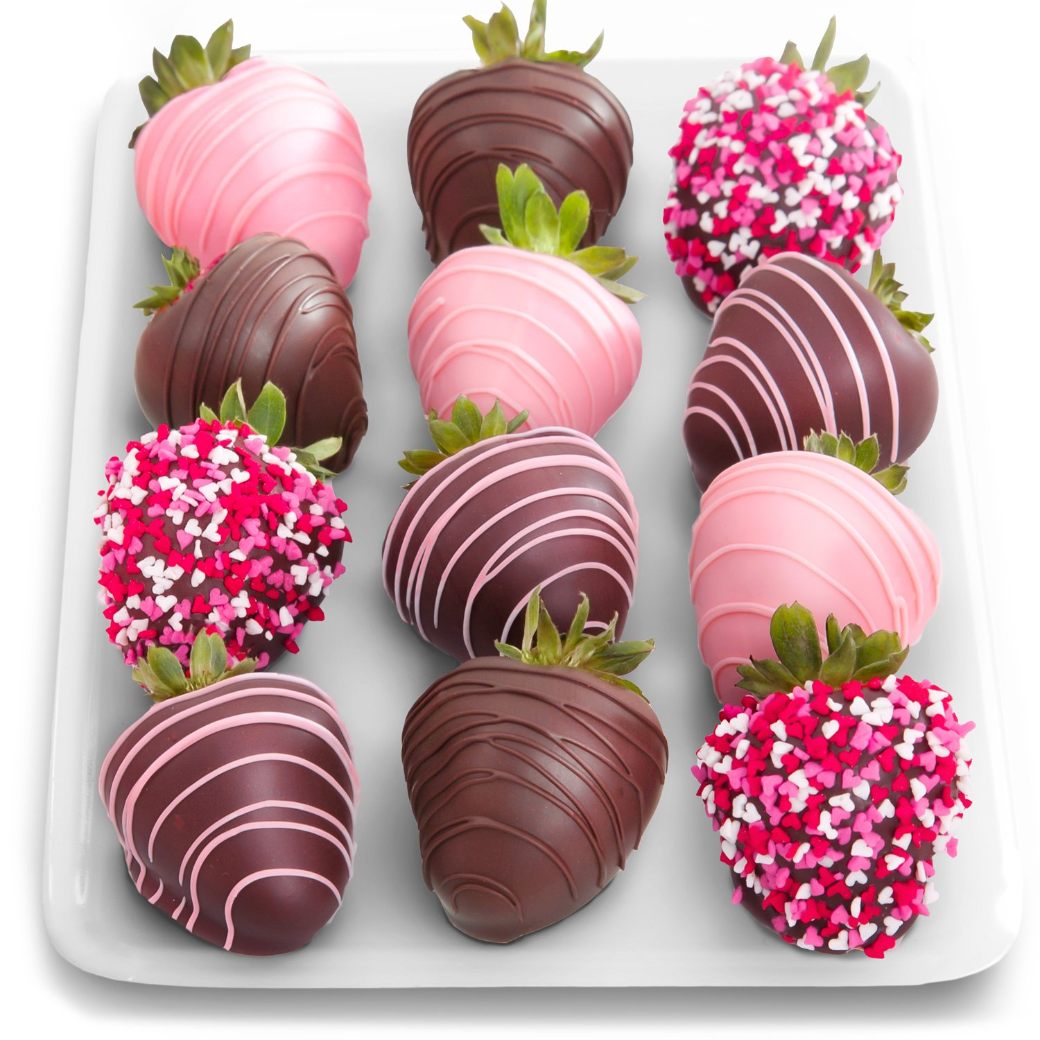 Golden State Fruit 12 Love Berries Valentine's Day Chocolate Covered Strawberries