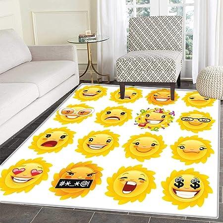 Emoji Zone Tapis Pop Art Style Dessin Anime Icones Licorne