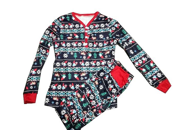 zhxinashu Trajes Familiares Pijamas Ropa de Dormir de Navidad Conjuntos Padres e Hijos Navidad de Casa