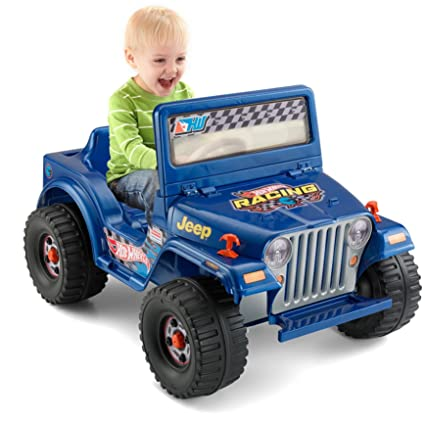 Amazon.com: Power Wheels Hot Wheels Jeep Wrangler, Blue (6V) [Amazon